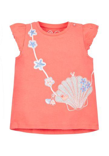 Mothercare | Boys Seashell Bag T-Shirt - Coral