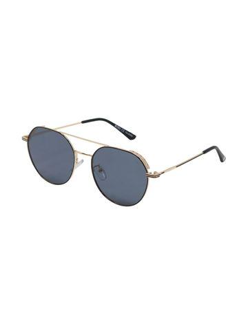 ENRICO | ENRICO Gatsby UV Protected & Polarized Round Shape Unisex Sunglasses ( Lens - Blue | Frame - Gold)