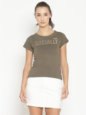 METTLE | Women OLIVE T-Shirts