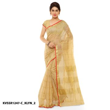 SATIMA | Satima BeigeCotton SilkPrinted Saree