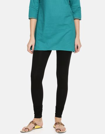 Twin Birds | Twinbirds  Black Plus women Churidar Legging