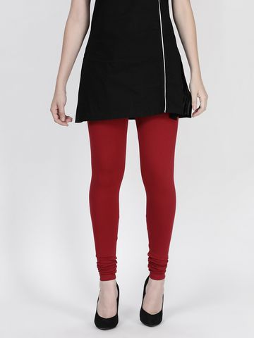 Twin Birds | Twinbirds La Burgandy women Churidar legging