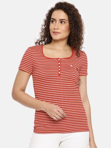Feather Soft Elite | Womens Scoop Neck Stripe  Tee