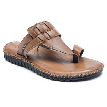 FRANCO LEONE   Franco Leone Tan Leather Men's Slipper