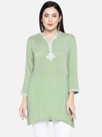 Ethnicity | Ethnicity Sleeveless Fashion Women Mint Tunic