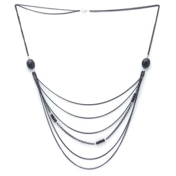 globus | Globus Black Long Necklace