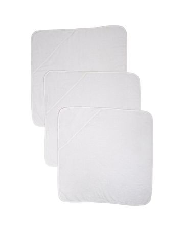 Mothercare | Cuddle 'N' Dry Hooded Towels - White - Pack of 3
