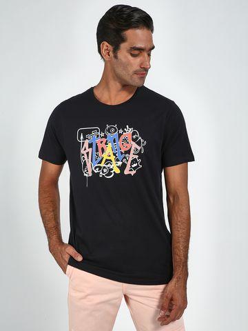 Blue Saint | Blue Saint Men's Black Regular Fit T-Shirts