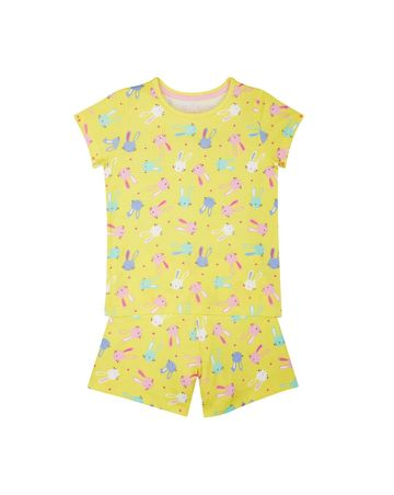 Mothercare | Yellow Printed Nightsuit