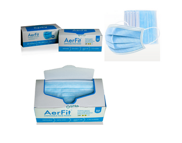 Aerfit   AerFit Disposable Surgical Face Masks 3ply