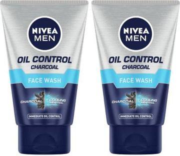 Nivea | NIVEA Oil Control Charcoal Face Wash (Pack Of 2)
