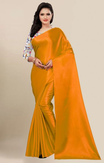 SATIMA | Fancy Mustard Solid Casual Wear Saree