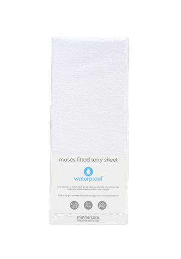 Mothercare | Mothercare Fitted Moses Basket/Pram Terry Sheet