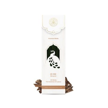 LUXURIATE | LUXURIATE Divine Fragrance Oudh Incense Agarbatti Sticks-Great for Yoga, Meditation, Prayer, Home Fragrance, and as Air Purifie,(Contains 20 Incense Sticks/Natural Agarbatti)