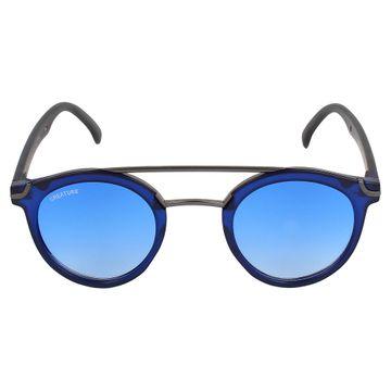 CREATURE | CREATURE Round Unisex Sunglasses (Lens-Blue|Frame-Blue)