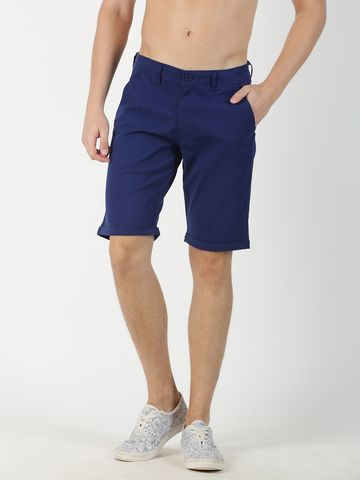 Blue Saint | Blue Saint Men's Solid Blue Shorts