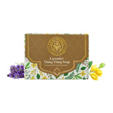 LUXURIATE | LUXURIATE Lavender Ylang Ylang Essense of Fragrant Beauty Soap Bar for Men and Women,125gm