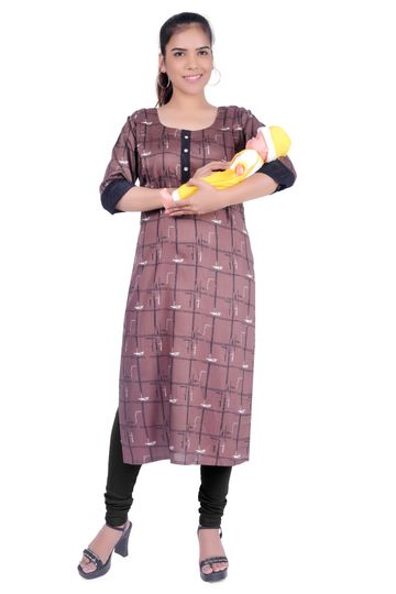 Black Lady | Woman Maternity Kurta/Feeding Kurta
