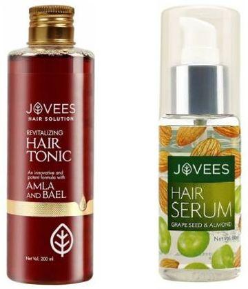 Jovees   JOVEES Hair Tonic Amla & Bael WITH Grape Seed & Almond Hair Serum (pack of 2)  (2 Items in the set)
