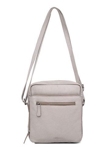 WildHorn   WildHorn Upper Grain Genuine Leather Ladies Sling, Cross-body, Hand Bag with Adjustable Strap - Off White