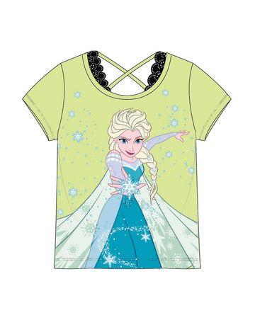 Mothercare | Kidsville Girls Half sleeves Round neck tee Frozen-Green