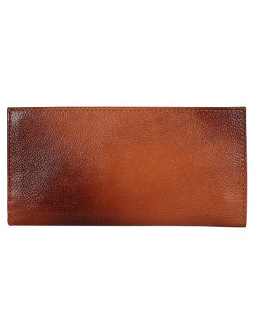 CREATURE | CREATURE Tan Stylish Genuine Leather Clutch for Women