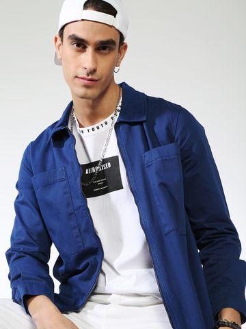 Blue Saint   Blue Saint Men's Blue Slim Fit Denim Jackets