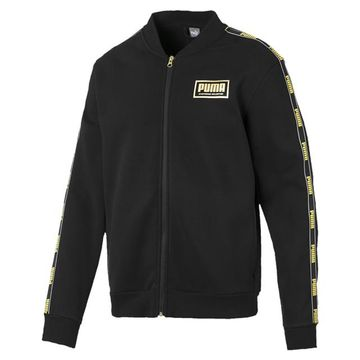 Puma | PUMA Holiday Pack Bomber Jacket Cotton Black LIFESTYLE TOP