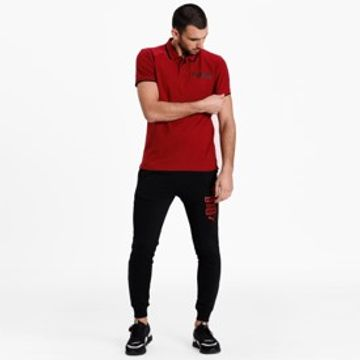 Puma | Puma Red Solid Modern Sports Polo T-Shirt