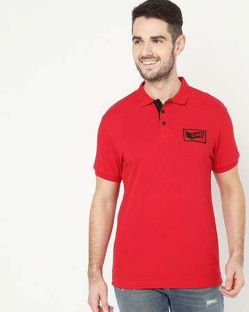 GAS | Ralph Badge Red Polo