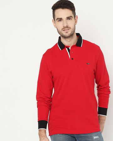 GAS | Ralph/S Full Sleeve Red Polo