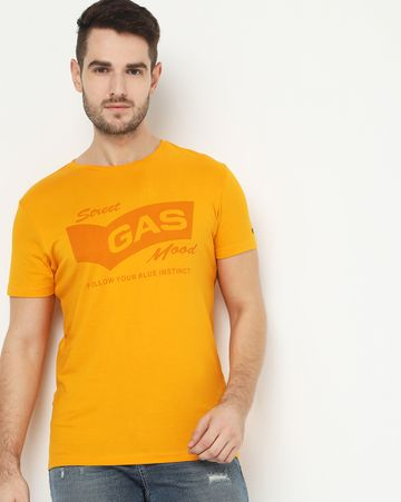 GAS | Scuba Tone Yellow Crew Neck T-Shirt
