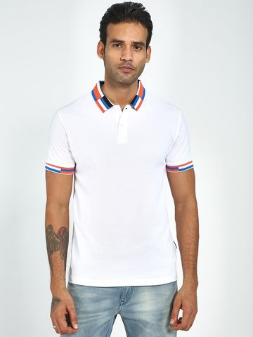 Blue Saint | Blue Saint Men's White Regular Fit T-Shirts