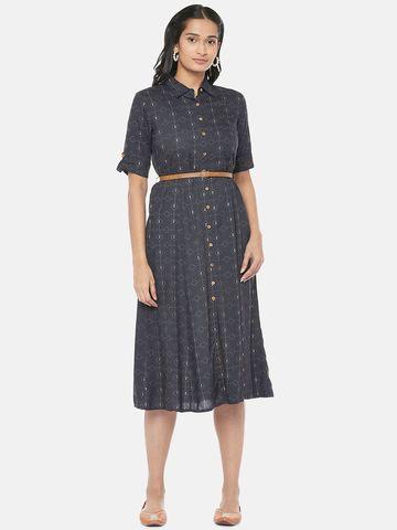 Ethnicity | Rayon Straight Women Black Dress