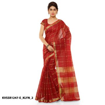 SATIMA | Satima RedCotton SilkPrinted Saree