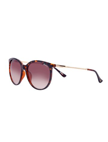 ENRICO | ENRICO Galaxy UV Protected Round Sunglasses for Women ( Lens - Brown | Frame - Brown)