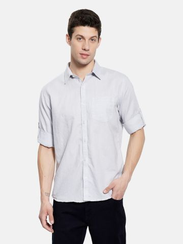METTLE | Men SILVER Casual Shirts
