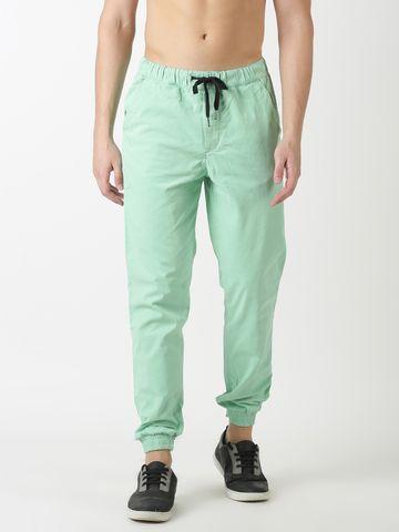 Blue Saint   Blue Saint Men's Cotton Green Jogger