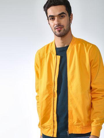 Blue Saint | Blue Saint Men's Yellow Slim Fit Jackets