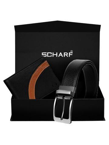 SCHARF | SCHARF Business Formal Belt & Wallet Combo Gift Set For Men (A Doozy-Double)