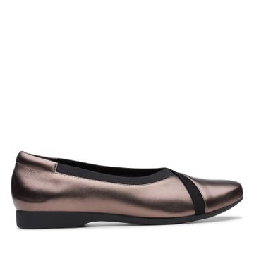 Clarks | UN DARCEY EASE PEBBLE METALIC