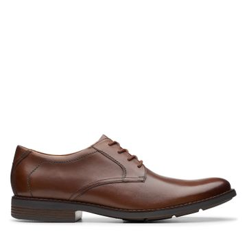 Clarks | BECKEN LACE DARK TAN LEATHER FORMAL LACE UP