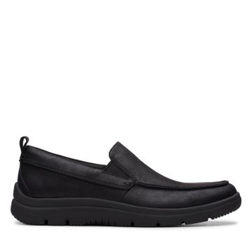 Clarks | TUNSIL WAY BLACK CASUAL SLIP ON