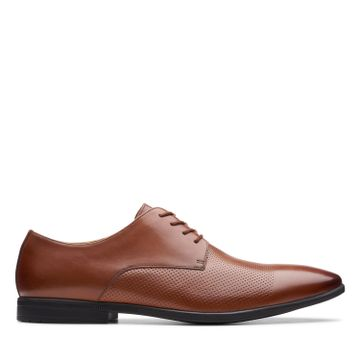 Clarks | BAMPTON CAP TAN LEATHER FORMAL LACE UP