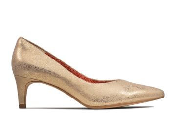 Clarks | LAINA55 COURT GOLD METALLIC