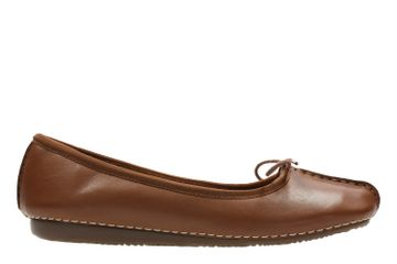 Clarks | FRECKLE ICE DARK TAN LEA CASUAL