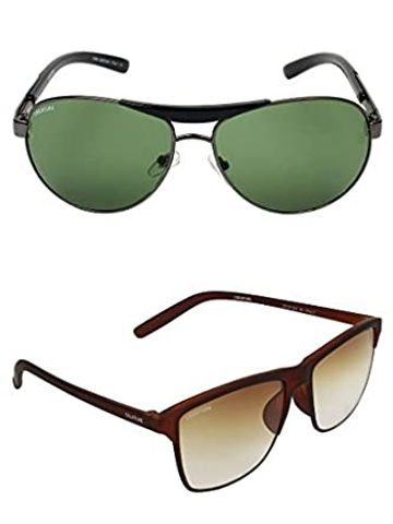 CREATURE | CREATURE Brown Sunglasses Combo with UV Protection (Lens-Brown|Frame-Grey & Brown)