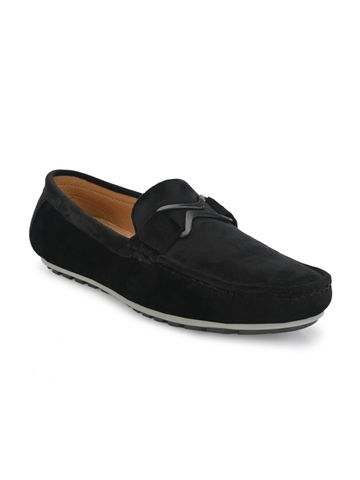 Guava | Guava Charming Velvet Casual Loafer Shoes - Black