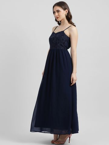 Zink London | Zink London Women's Blue Solid Maxi Dress