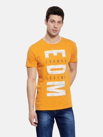 OCTAVE | Men MUSTARD T-Shirts